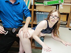 Shoplyfter - Hidden Camera Sex With Tight Pussy Teen