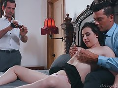 Casey Calvert pound and cum sprayed about her husband enticing pictures