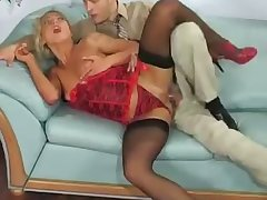leggy blonde hoe indulges herself in passionate designation anal sex