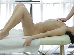 Hot nude massage with lovely Kristall Rush goes in brutal way with wettish fuck