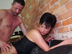 German matured wife takes hard dick in stretched rump hole cowgirl superciliousness