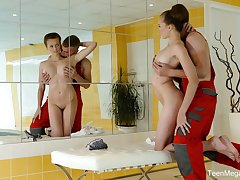 Buxom gal Stacy Cruz provides stud shriek only involving BJ but also footjob