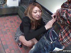 Lusty light haired Nao is Japanese blowlerina who enjoys sucking dick